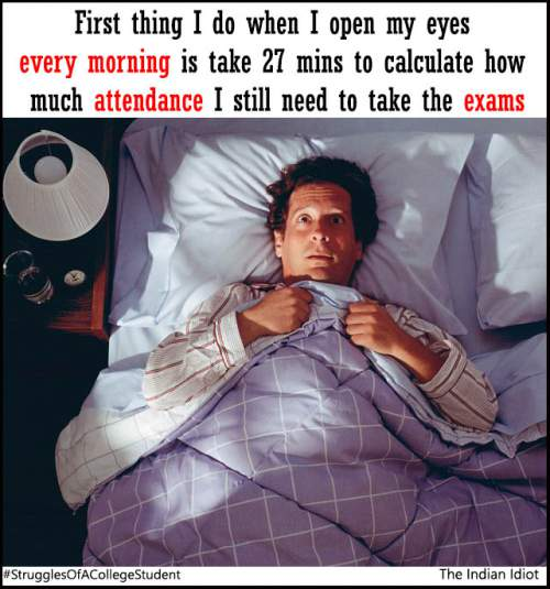 calculating college attendance in bed