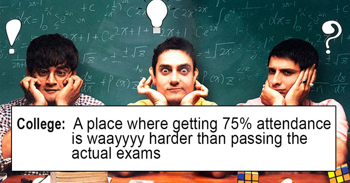 college student struggles in India tweets and memes