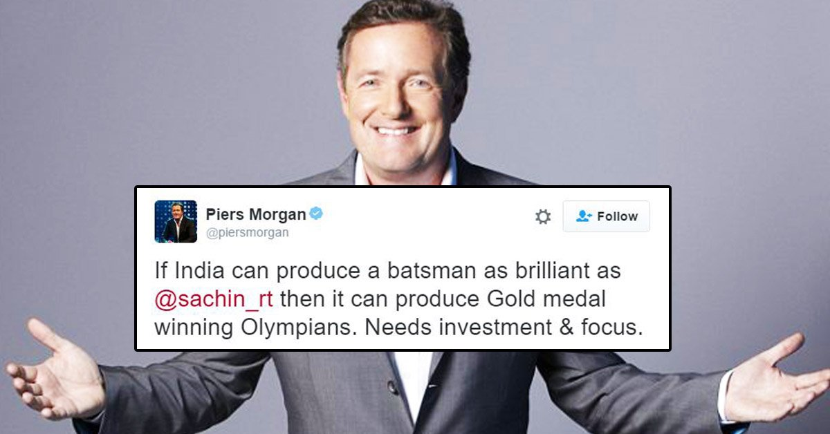 Piers Morgan is shutting down Indian Trolls on twitter about Olympics