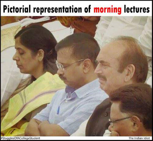 morning lectures in India be like