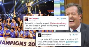 Piers Morgan Trolled By India & Sehwag Kabaddi