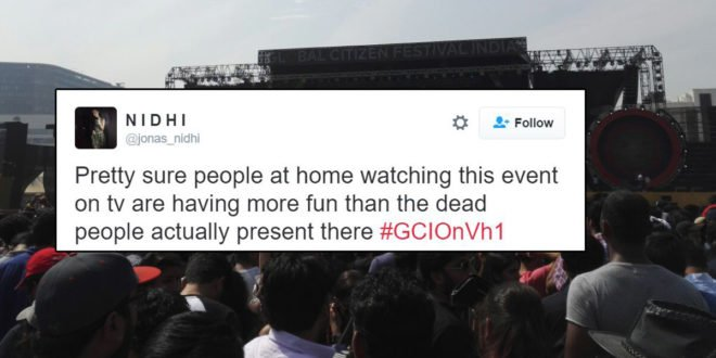 Coldplay crowd at global citizen fest India