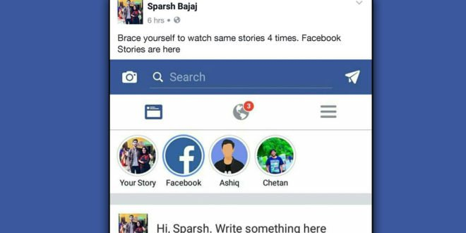 facebook stories update