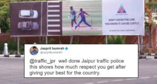 Bumrah Offended After Jaipur Police Uses His No Ball To Promote Road Safety