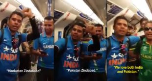 This Video Of Indian & Pakistani Fans Celebrating In England is Going Viral