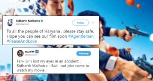 Sidharth Malhotra Trolled For Promoting His Movie Amidst Haryana Violence
