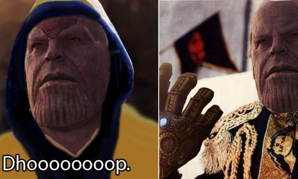Thanos memes and photoshop