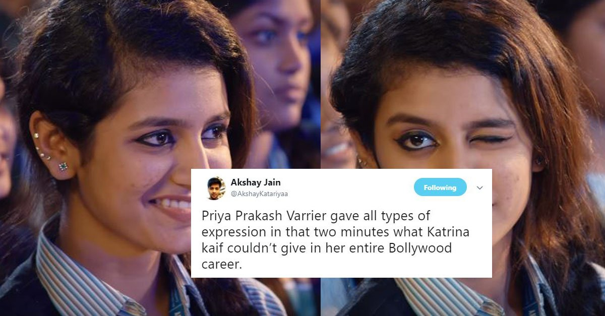 Image result for priya prakash varrier