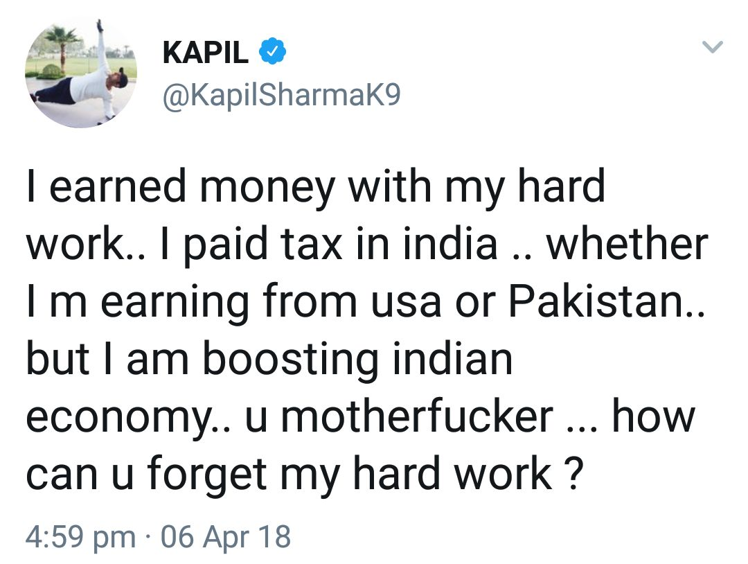 Kapil Sharma Twitter Hacked screenshots
