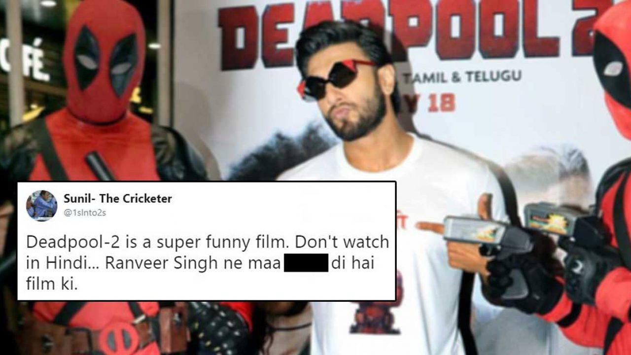 People Are Disappointed With Ranveer Singh's Voice In