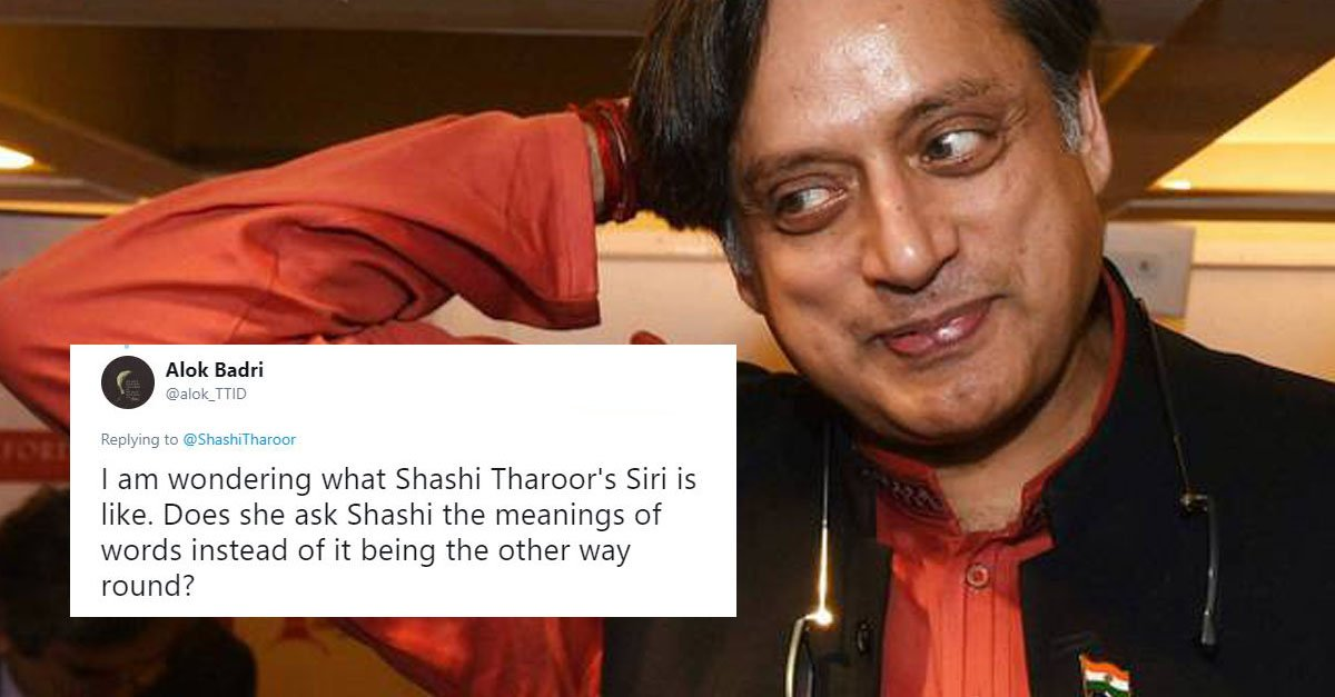 Shashi Tharoor S Latest Tweet Has Everyone Searching This Word S Meaning